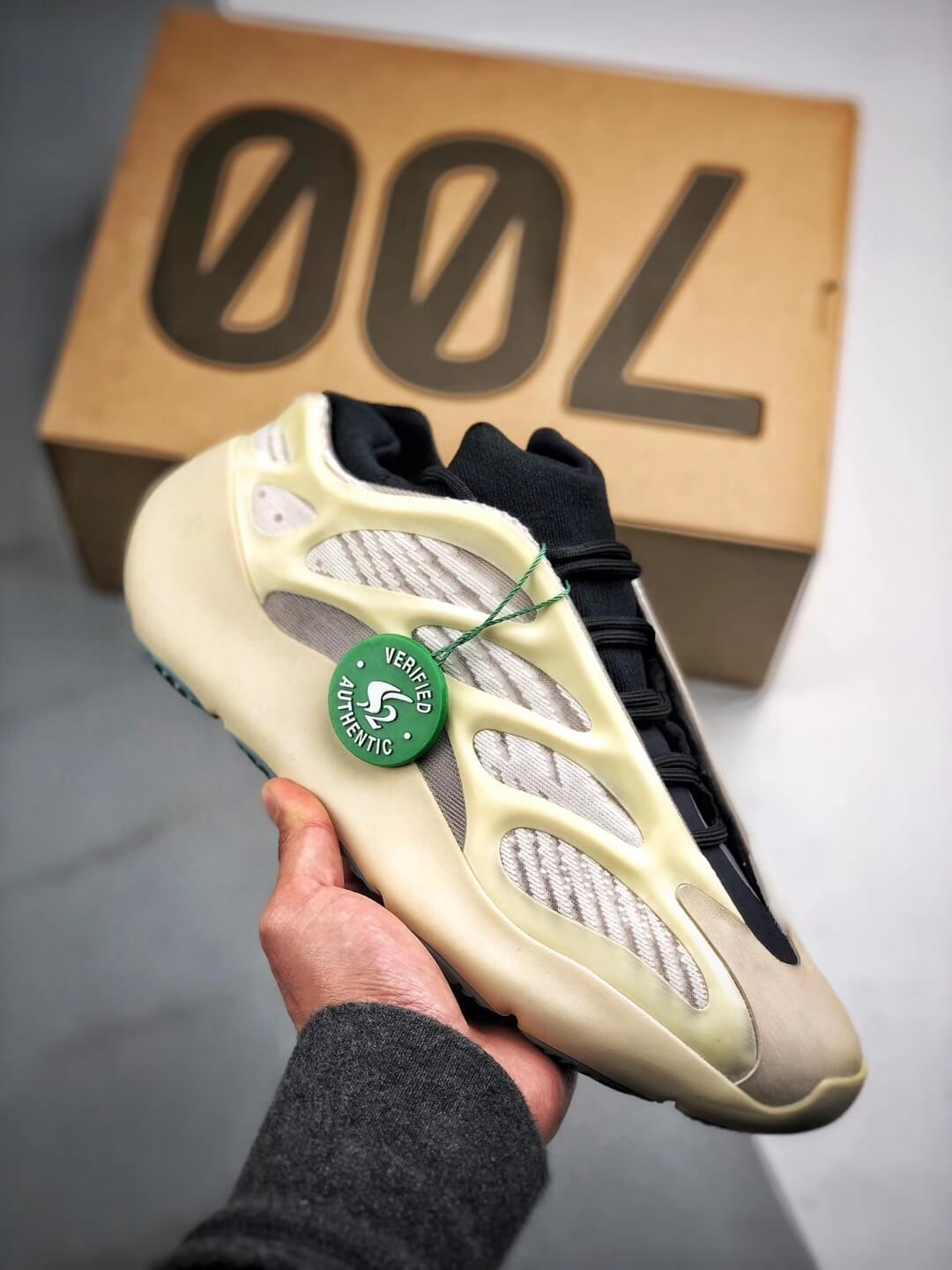 The Adidas Yeezy 700 V3 Azael Reflective Sneaker White Mesh Open Work Upper EVA Outer Sole Top RepSneakers 01