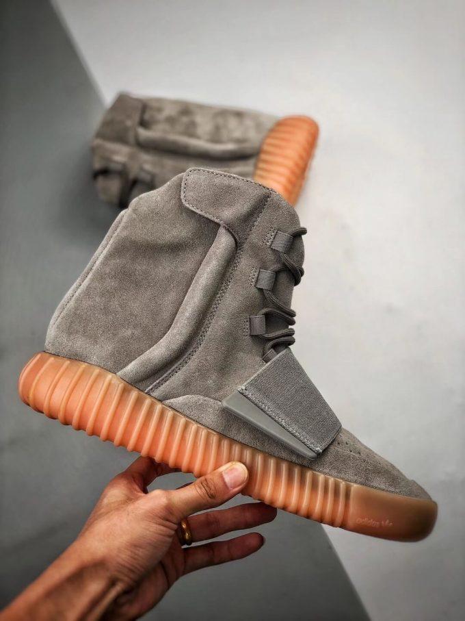 The Adidas Yeezy Boost 750 Grey Gum Suede Upper Best Quality RepSneaker 02