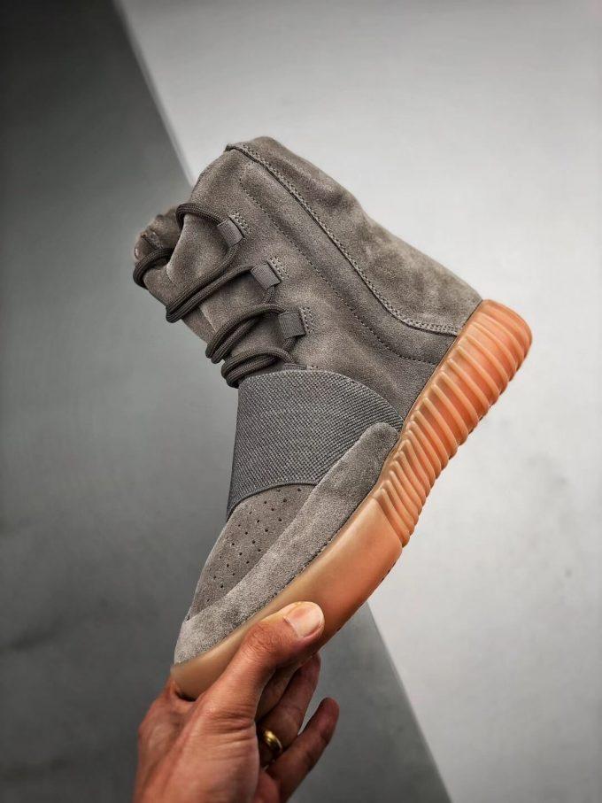 The Adidas Yeezy Boost 750 Grey Gum Suede Upper Best Quality RepSneaker 04