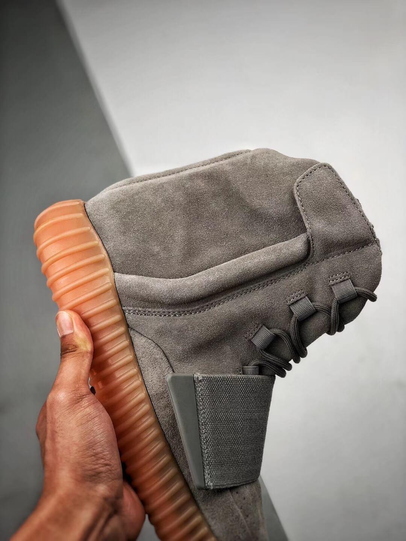 The Adidas Yeezy Boost 750 Grey Gum Suede Upper Best Quality RepSneaker 05