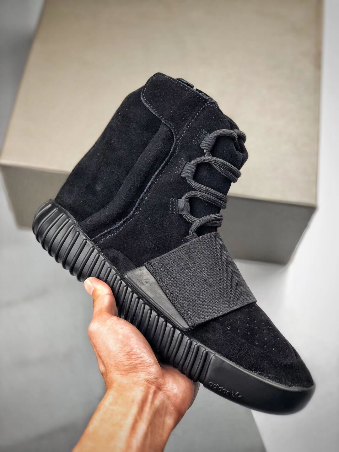The Adidas Yeezy Boost 750 Triple Black Suede Quality Rep Sneaker 01