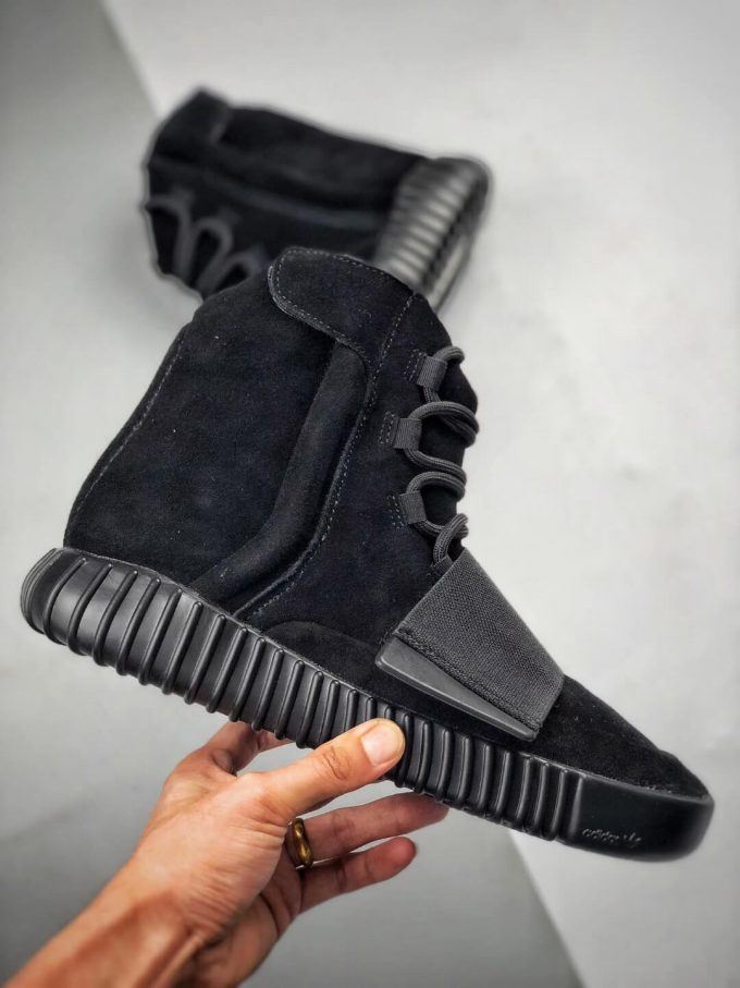 The Adidas Yeezy Boost 750 Triple Black Suede Quality Rep Sneaker 02
