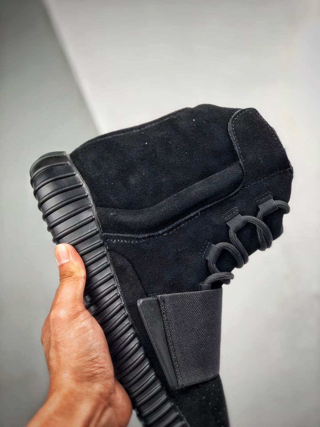 The Adidas Yeezy Boost 750 Triple Black Suede Quality Rep Sneaker 05