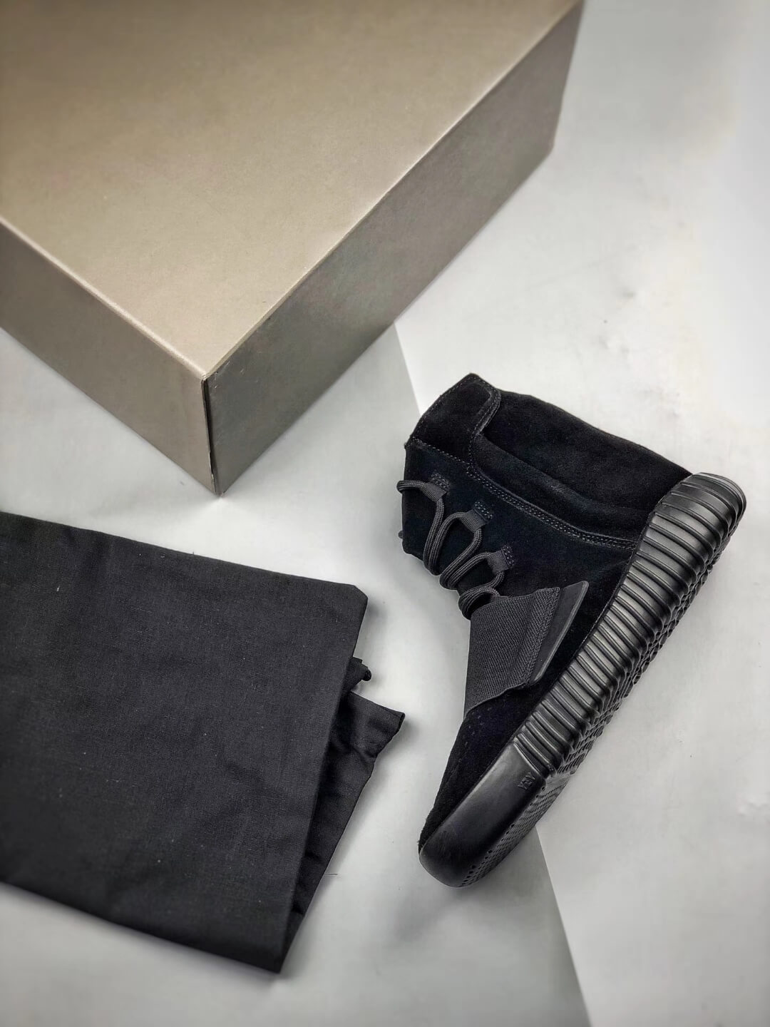 The Adidas Yeezy Boost 750 Triple Black Suede Quality Rep Sneaker 09
