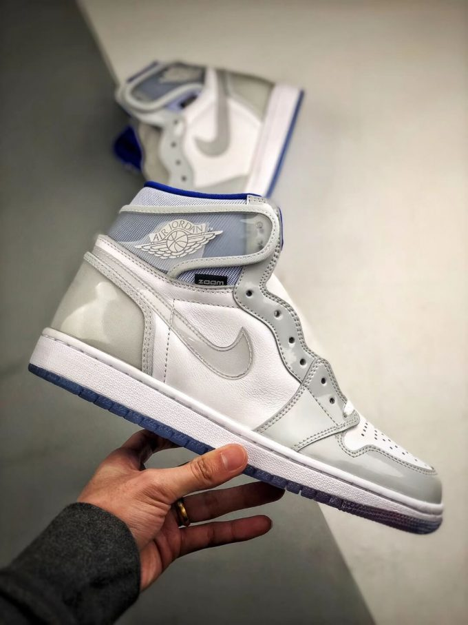 The Air Jordan 1 Retro High Zoom Racer Blue RepShoes 02