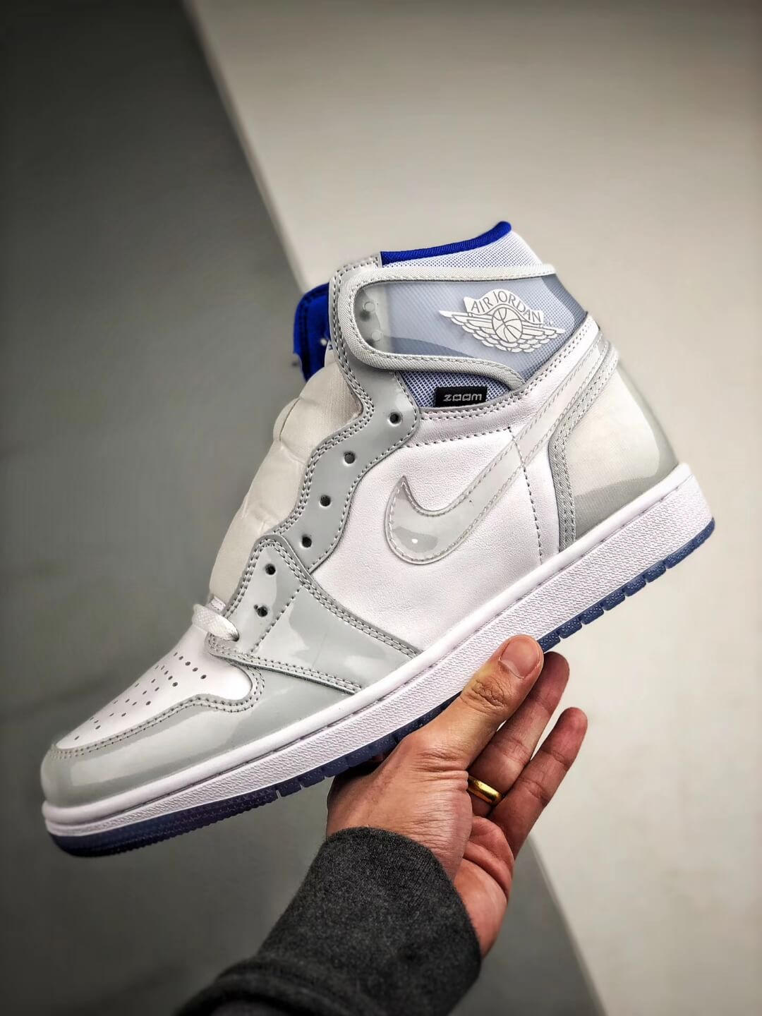 The Air Jordan 1 Retro High Zoom Racer Blue RepShoes 04