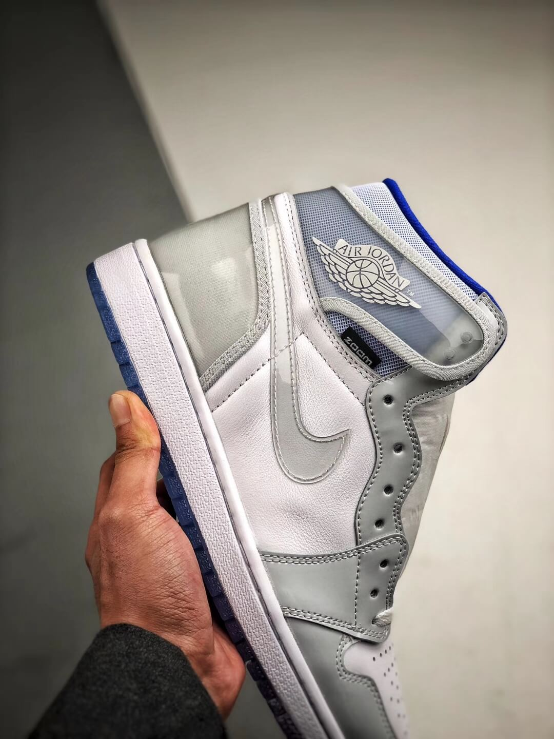 The Air Jordan 1 Retro High Zoom Racer Blue RepShoes 05