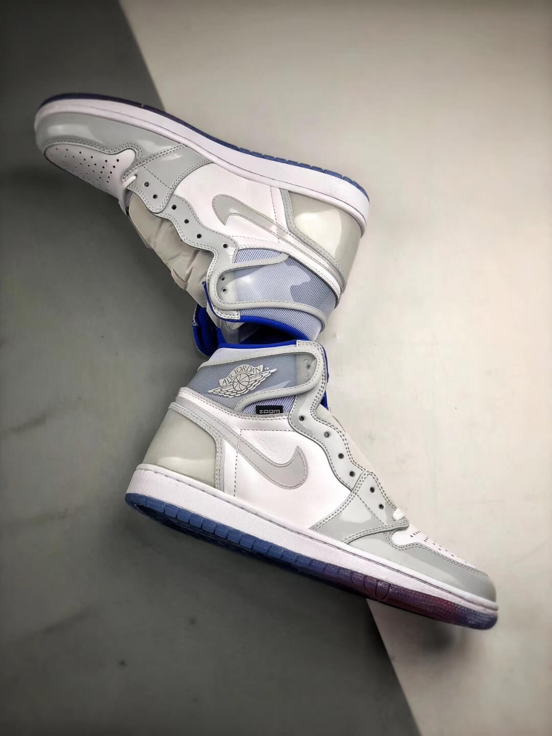The Air Jordan 1 Retro High Zoom Racer Blue RepShoes 08
