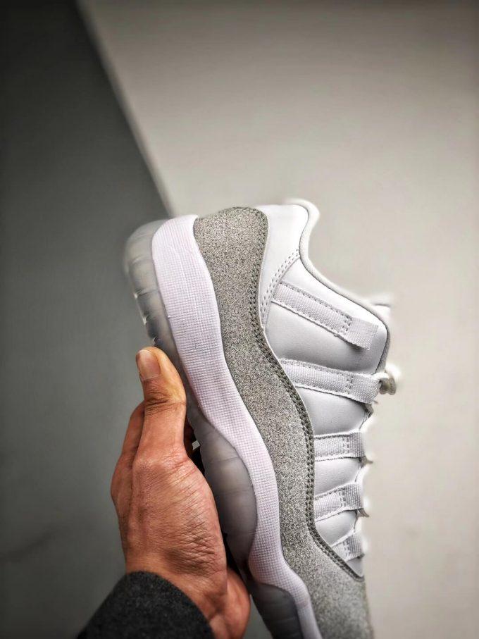The Air Jordan 11 Retro Low Top White Metallic Silver Sneaker Best Clone Shoes 05