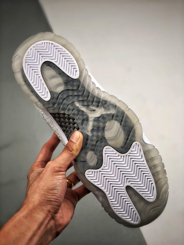 The Air Jordan 11 Retro White Metallic Silver Sneaker Gypsophila Best Clone Shoes 06