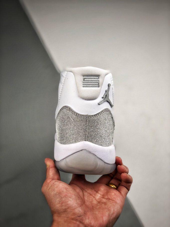 The Air Jordan 11 Retro White Metallic Silver Sneaker Gypsophila Best Clone Shoes 07