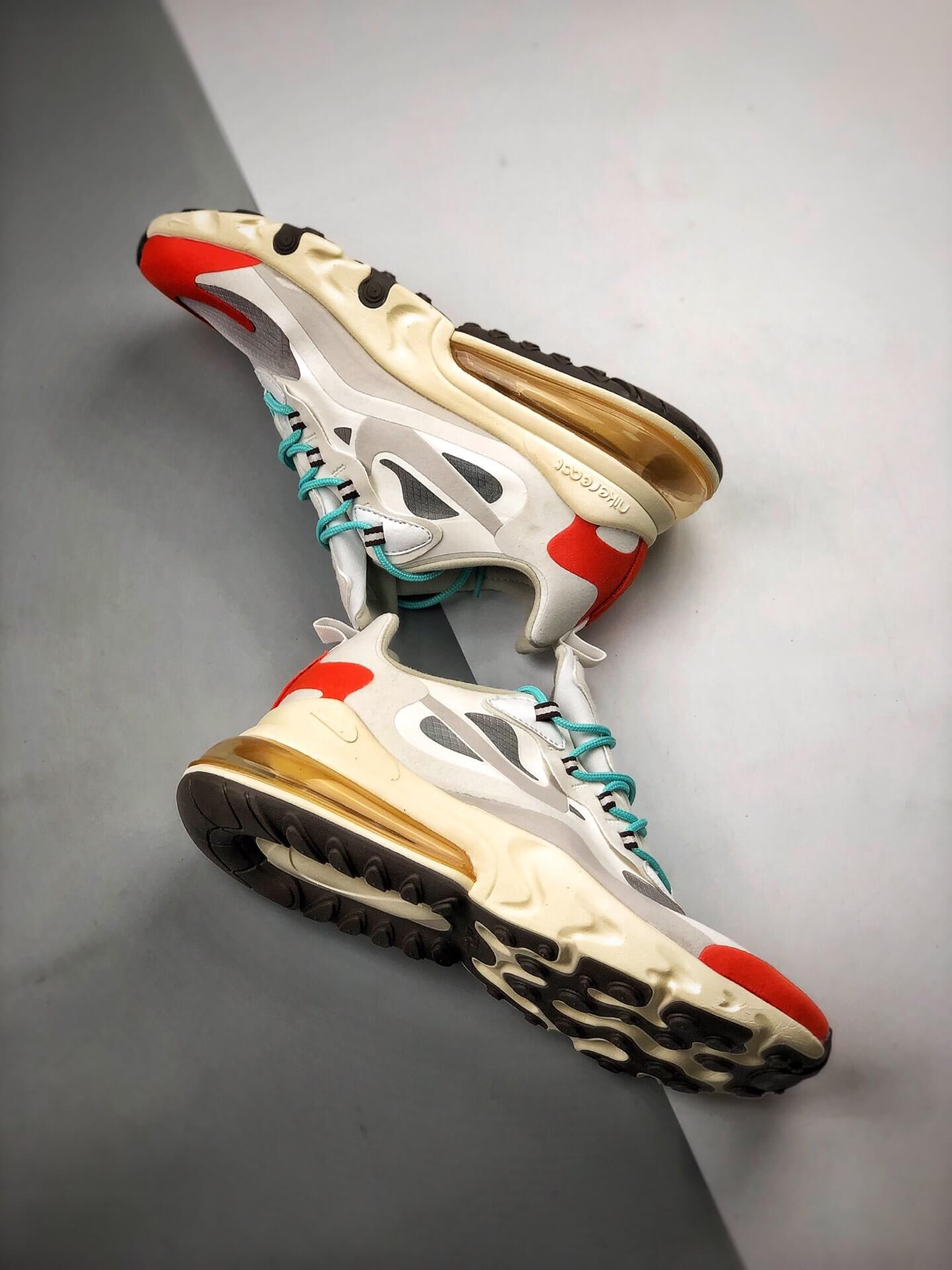 The Air Max 270 React Mid Century Art Lifestyle RepShoes 08