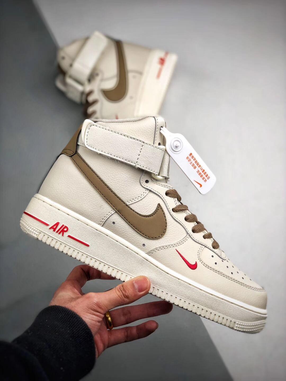 The Air Force 1 Hi Yohood Rice White & Rice Blanc High-Top RFID Tag Sneaker RepShoes
