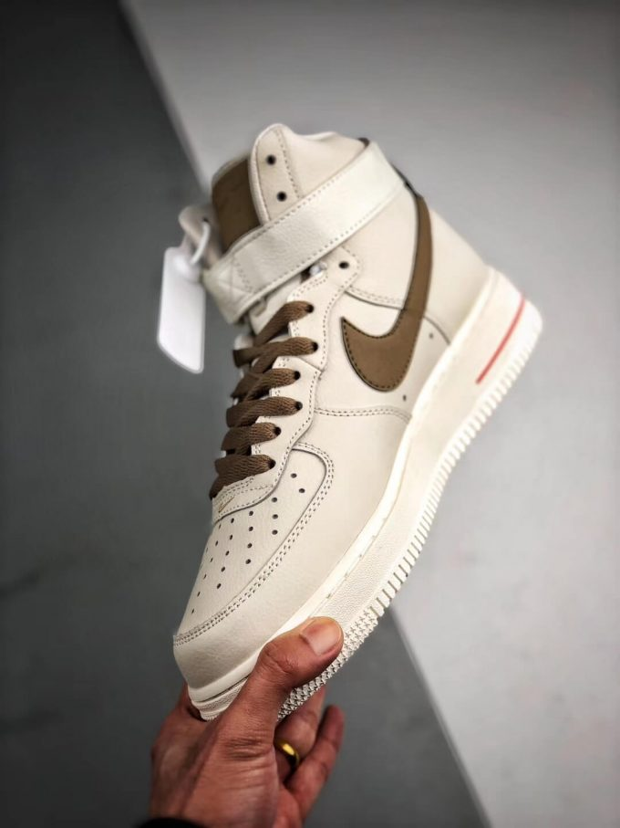 The Nike Air Force 1 Hi Yohood Rice White Rice Blanc High Top RFID Tag Sneaker RepShoes 04