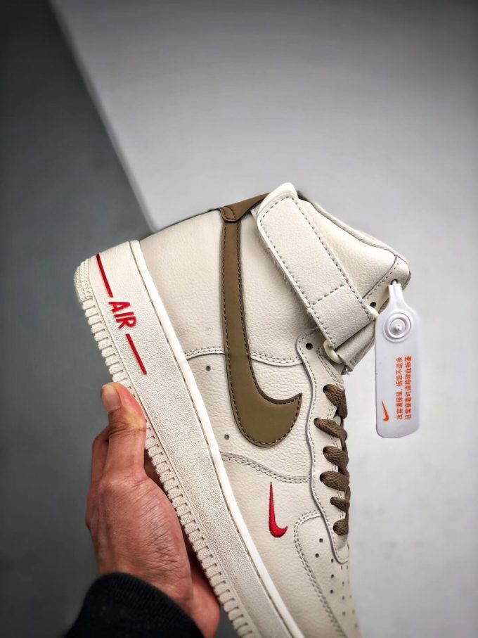 The Nike Air Force 1 Hi Yohood Rice White Rice Blanc High Top RFID Tag Sneaker RepShoes 05