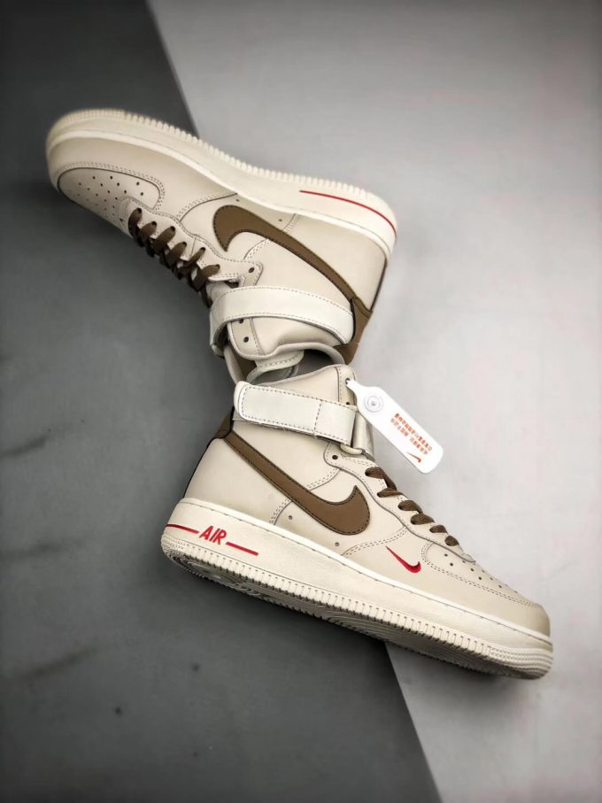 The Nike Air Force 1 Hi Yohood Rice White Rice Blanc High Top RFID Tag Sneaker RepShoes 08