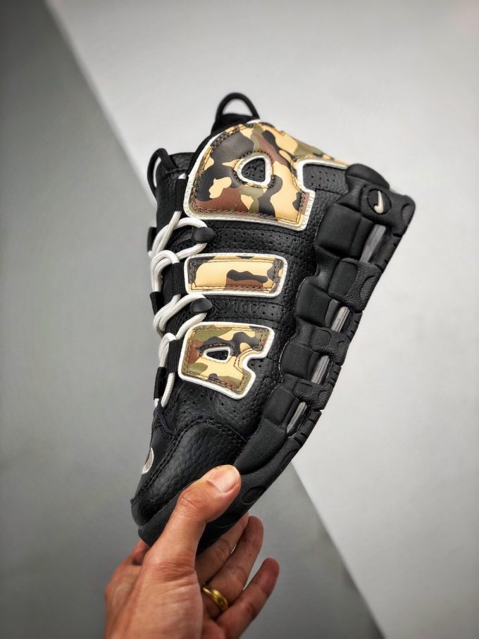 The Nike Air More Uptempo Camo Basketball Sneaker Premium Tumbled Leather Upper Top Replica Sports Shoes 04