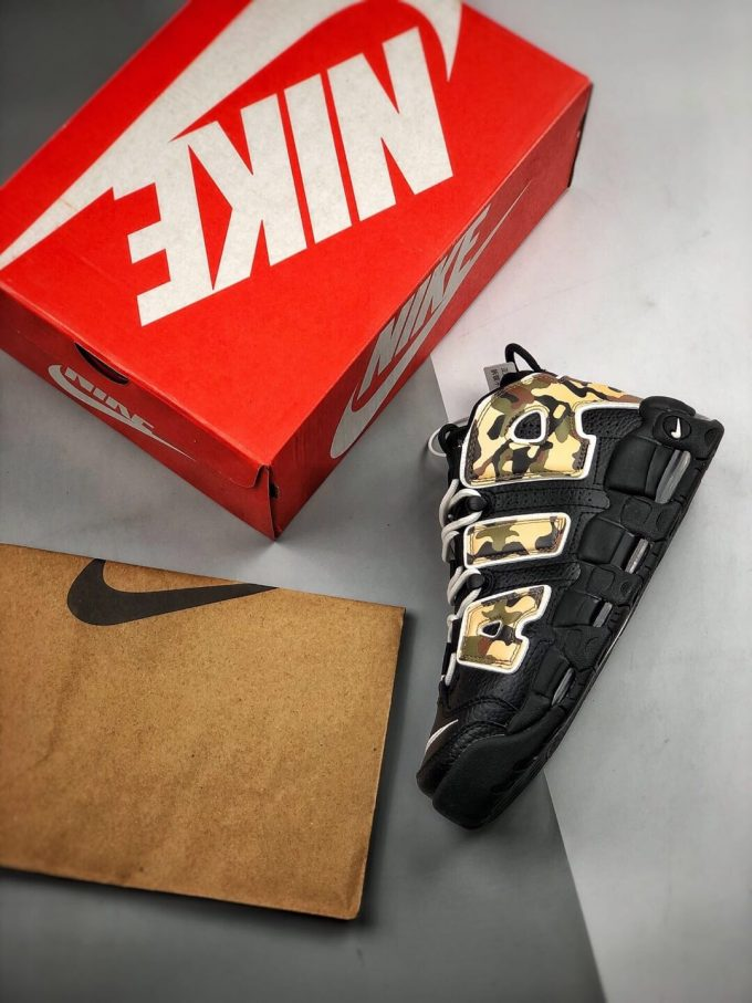 The Nike Air More Uptempo Camo Basketball Sneaker Premium Tumbled Leather Upper Top Replica Sports Shoes 09