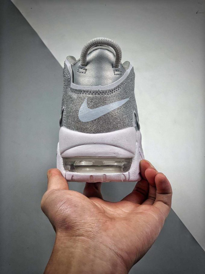 The Nike Air More Uptempo Loud and Clear Basketball Shoes Metallic Silver Leather Upper Quality RepSneaker 07