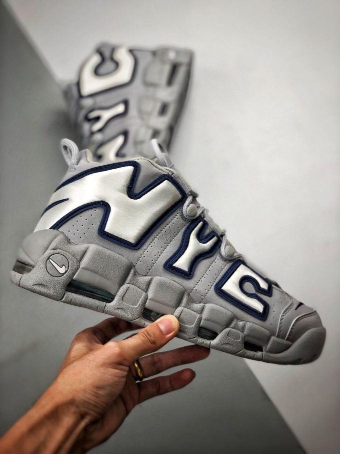 The Nike Air More Uptempo QS NYC Sneaker Limited Edition City Series Pack Grey Leather Upper Replica Shoes 02