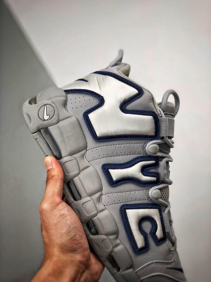 The Nike Air More Uptempo QS NYC Sneaker Limited Edition City Series Pack Grey Leather Upper Replica Shoes 05
