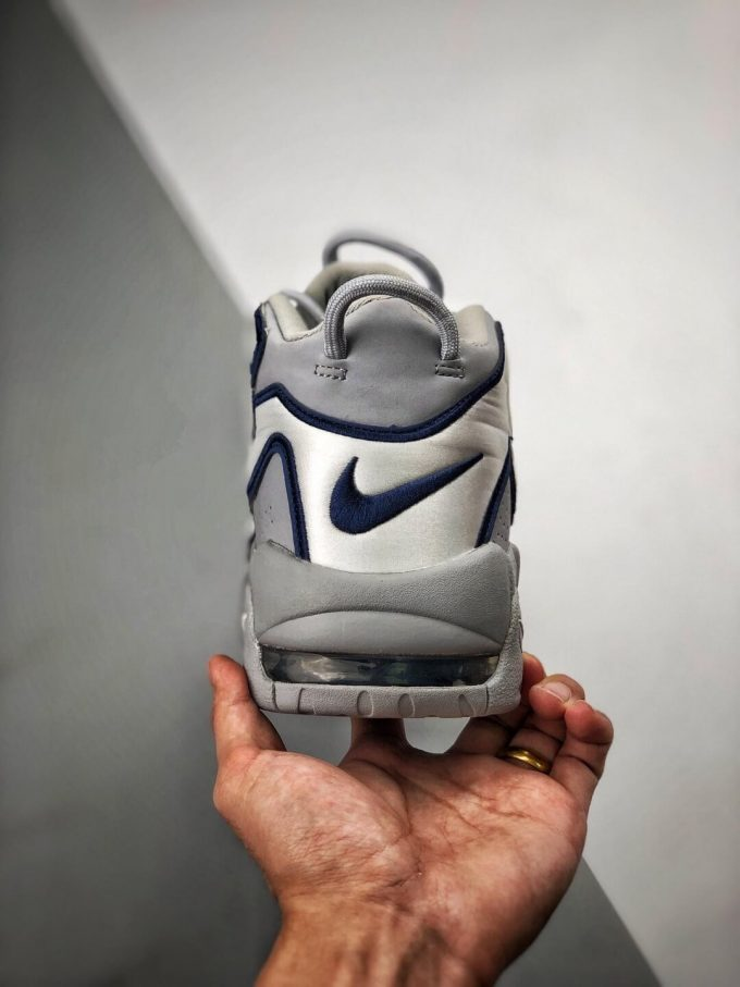 The Nike Air More Uptempo QS NYC Sneaker Limited Edition City Series Pack Grey Leather Upper Replica Shoes 07