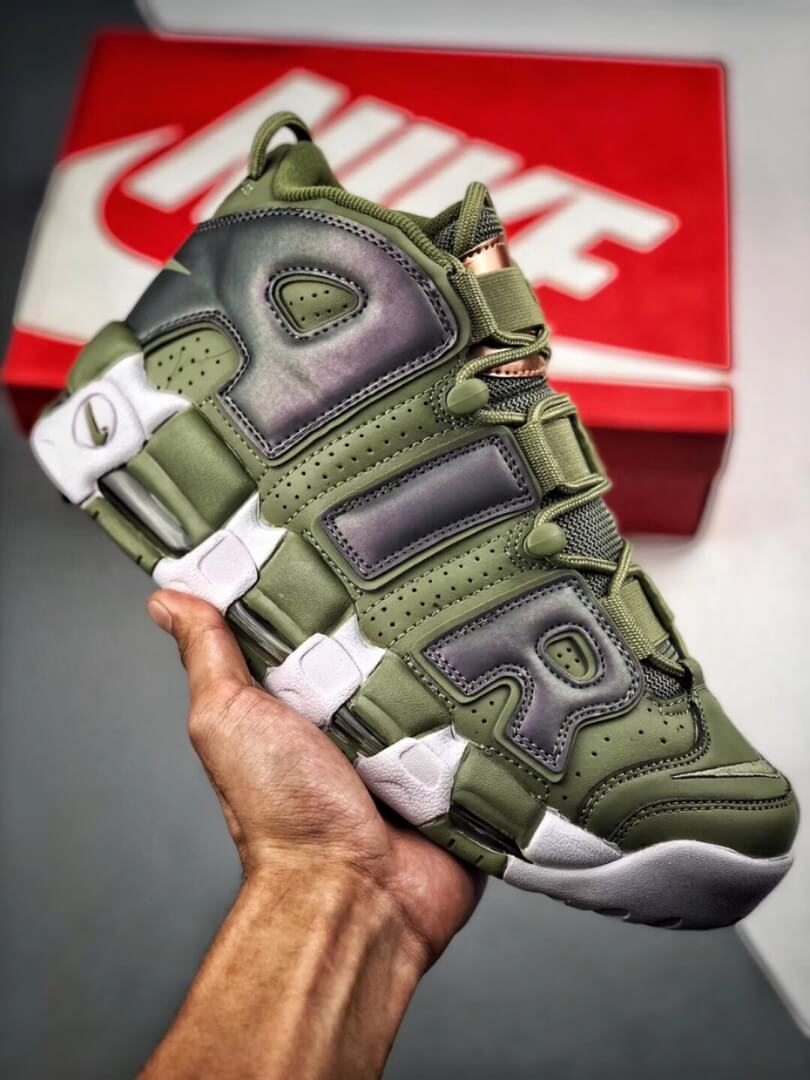 The Nike Air More Uptempo Shine Sneaker Scottie Pippens Gold Olympic Number 8 Heels Rep Shoes 01