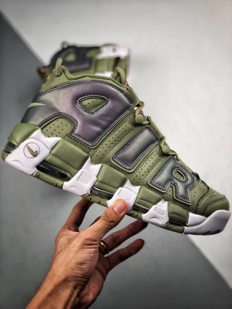 The Nike Air More Uptempo Shine Sneaker Scottie Pippens Gold Olympic Number 8 Heels Rep Shoes 02