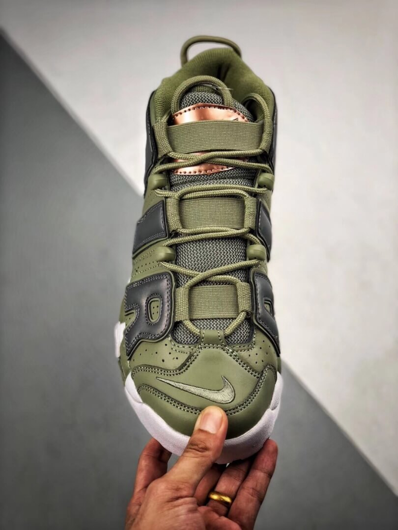 The Nike Air More Uptempo Shine Sneaker Scottie Pippens Gold Olympic Number 8 Heels Rep Shoes 03