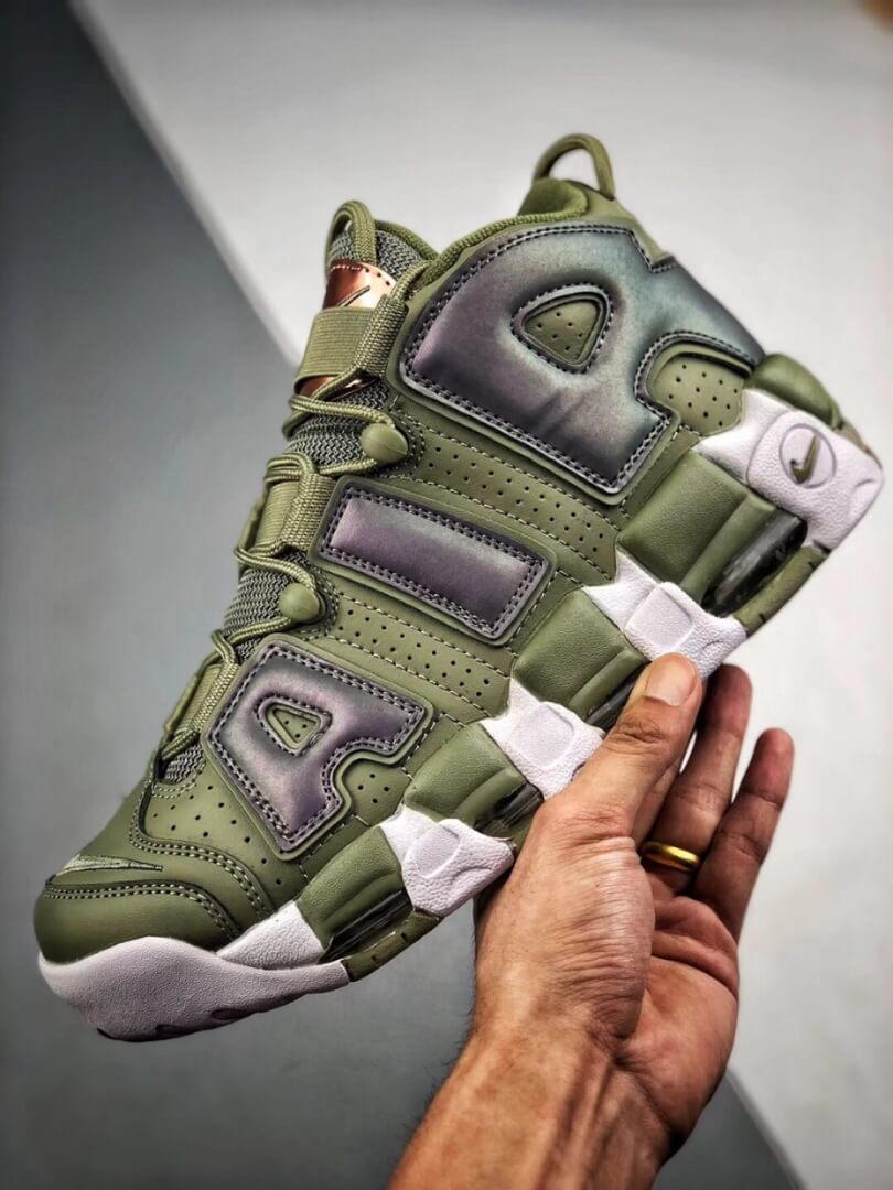 The Nike Air More Uptempo Shine Sneaker Scottie Pippens Gold Olympic Number 8 Heels Rep Shoes 04