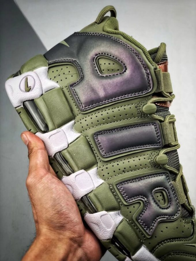 The Nike Air More Uptempo Shine Sneaker Scottie Pippens Gold Olympic Number 8 Heels Rep Shoes 05