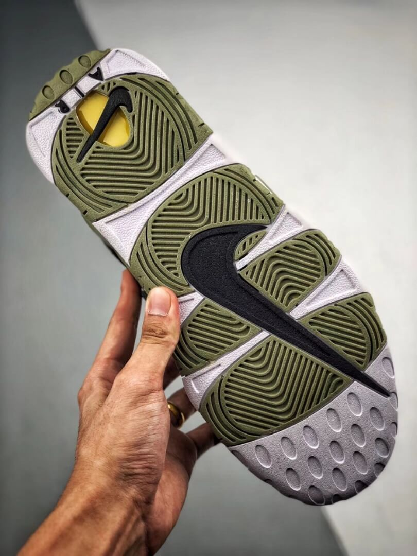 The Nike Air More Uptempo Shine Sneaker Scottie Pippens Gold Olympic Number 8 Heels Rep Shoes 06