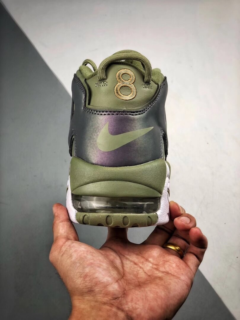 The Nike Air More Uptempo Shine Sneaker Scottie Pippens Gold Olympic Number 8 Heels Rep Shoes 07