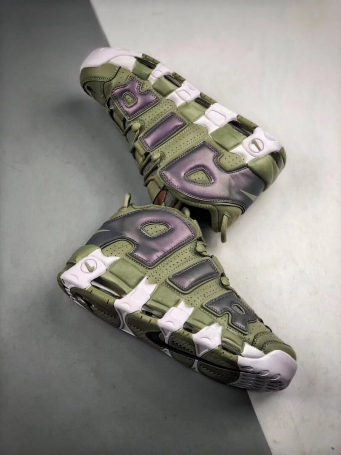 The Nike Air More Uptempo Shine Sneaker Scottie Pippens Gold Olympic Number 8 Heels Rep Shoes 08