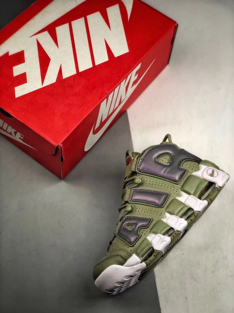 The Nike Air More Uptempo Shine Sneaker Scottie Pippens Gold Olympic Number 8 Heels Rep Shoes 09