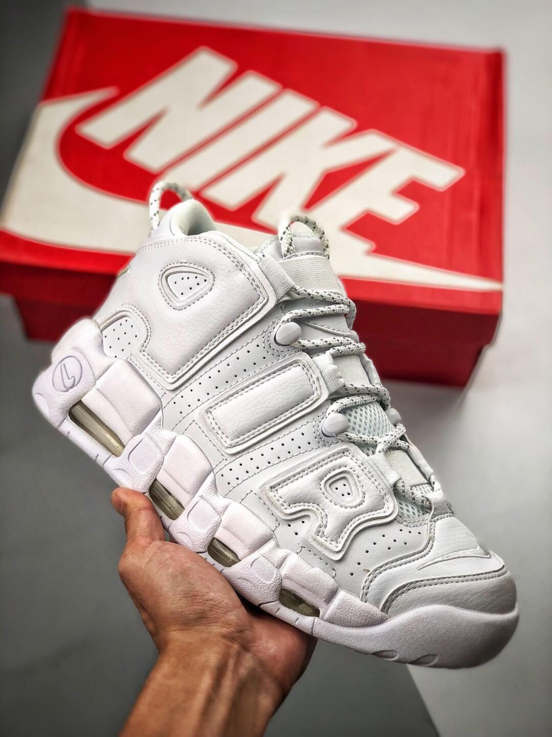 The Air More Uptempo 'Triple White' All