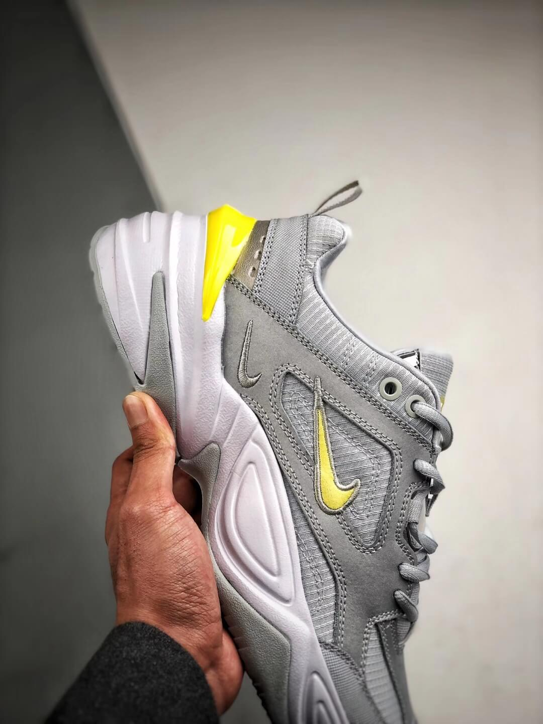 The Nike M2K Tekno Pure Platinum Grey Dynamic Yellow Logo CN0153 001 Quality RepSneaker 05