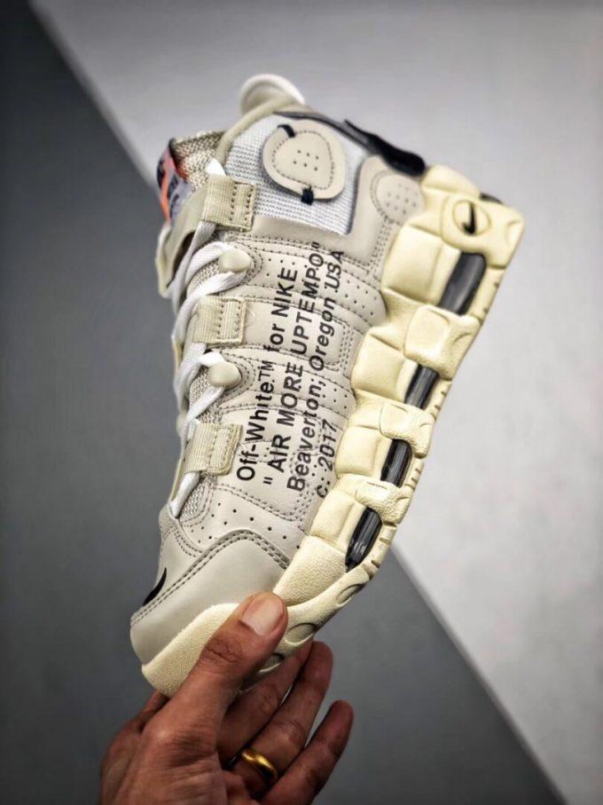 The Off White x Nike Air More Uptempo Beaverton Oregon USA C 2017 Rep Basketball Shoes 04
