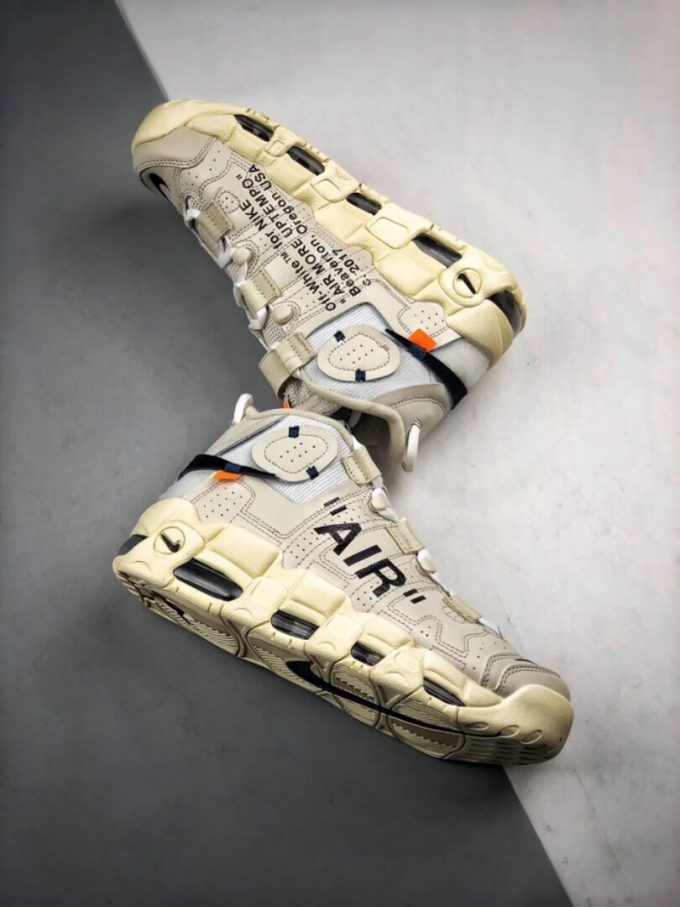 The Off White x Nike Air More Uptempo Beaverton Oregon USA C 2017 Rep Basketball Shoes 08