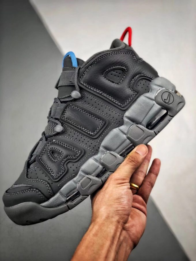 VILLA x Alexander John x Nike Air More Uptempo Dark Grey Air Gate 94 Basketball Shoes Quality Rep Sneaker 04
