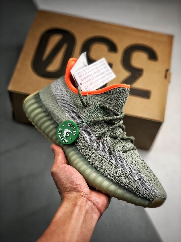 Best Replica Sneakers Adidas Yeezy Boost 350 V2 Desert Sage Pale Green Primeknit Upper 3M Reflective 01