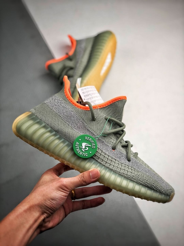 Best Replica Sneakers Adidas Yeezy Boost 350 V2 Desert Sage Pale Green Primeknit Upper 3M Reflective 02