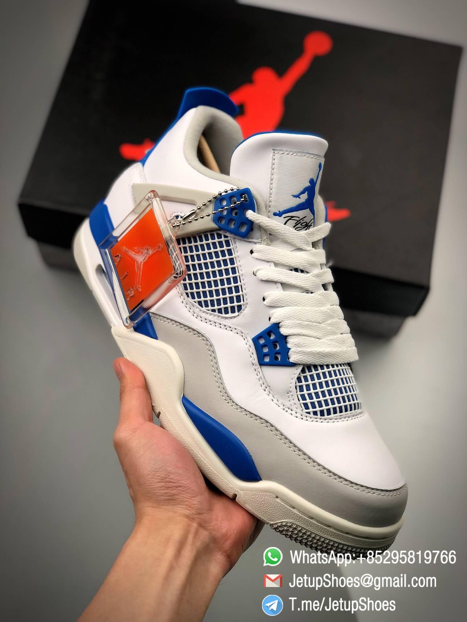 Best Replica Jordan 4 Retro Military Blue 2012 Sneakers 308497 105 01