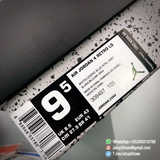 Best Replica Jordan 4 Retro Military Blue 2012 Sneakers 308497 105 20