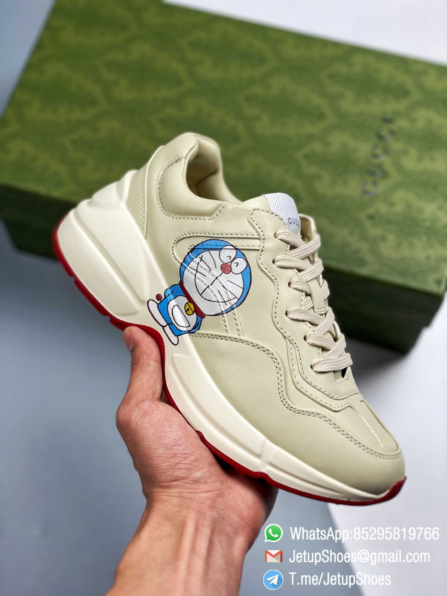 Doraemon x Gucci womens Rhyton Sneaker Special Collaboration Sneakers SKU 655037 DRW00 9522 01