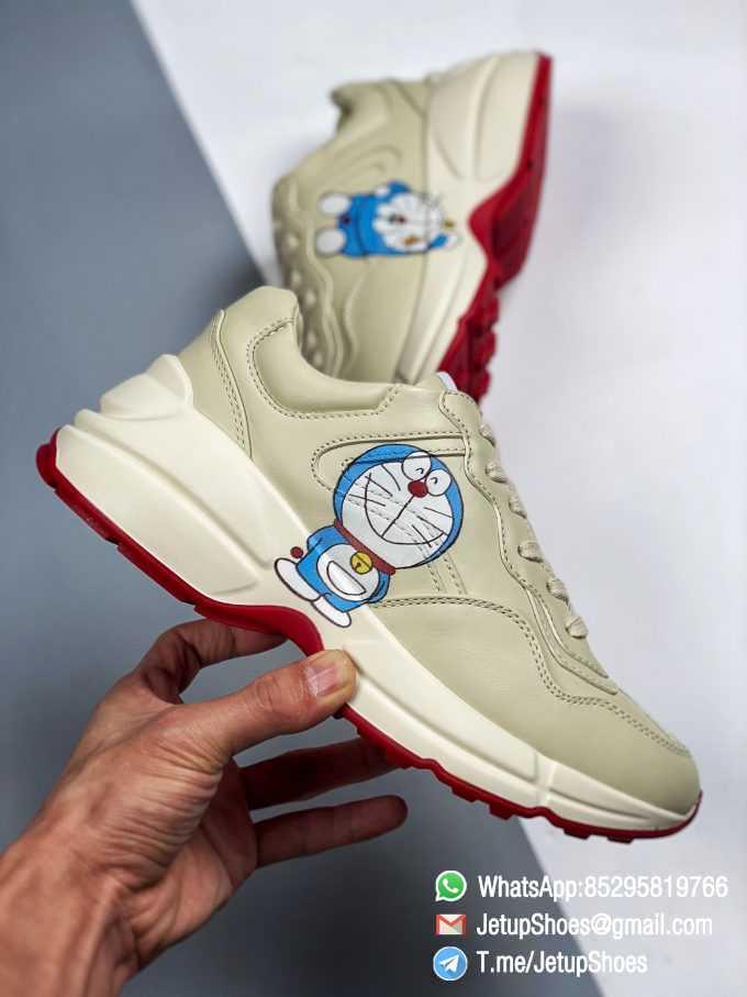 Doraemon x Gucci womens Rhyton Sneaker Special Collaboration Sneakers SKU 655037 DRW00 9522 04