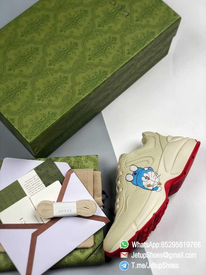 Doraemon x Gucci womens Rhyton Sneaker Special Collaboration Sneakers SKU 655037 DRW00 9522 09