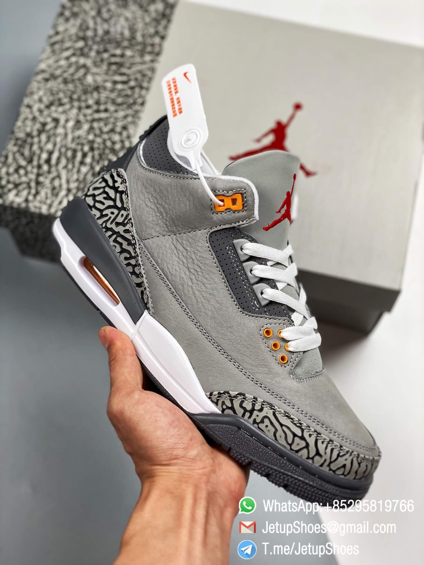 RepSneakers Air Jordan 3 Retro Cool Grey SKU CT8532 012 Grey Leather Upper Best Replica Sneakers 01