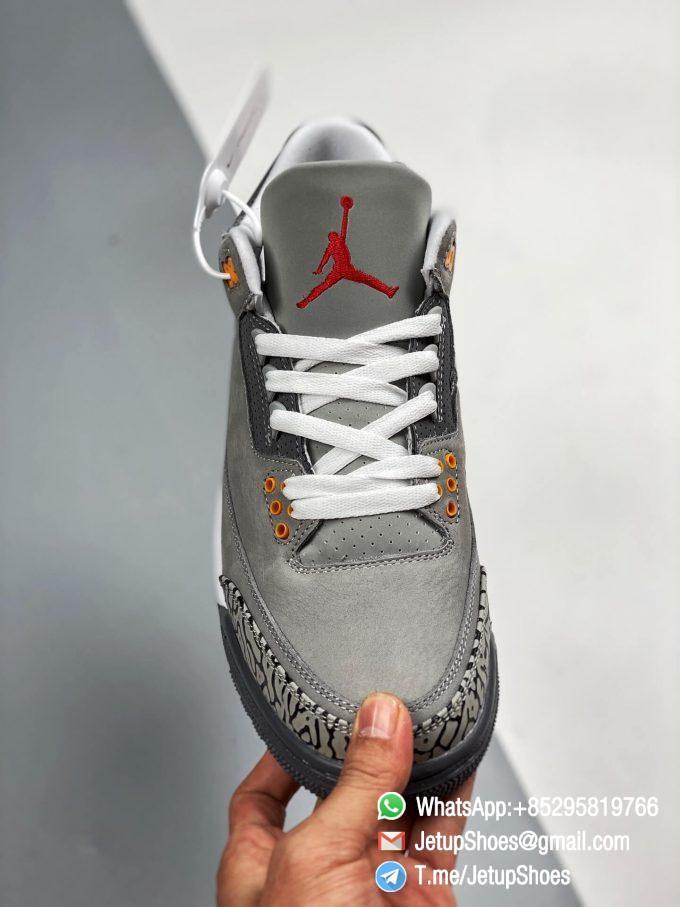 RepSneakers Air Jordan 3 Retro Cool Grey SKU CT8532 012 Grey Leather Upper Best Replica Sneakers 02
