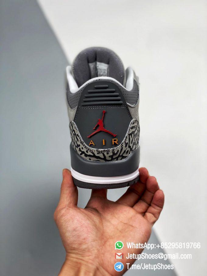 RepSneakers Air Jordan 3 Retro Cool Grey SKU CT8532 012 Grey Leather Upper Best Replica Sneakers 05